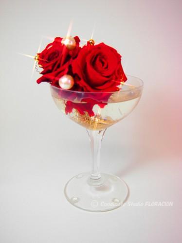 プリザーブドフラワー アレンジメント 赤バラ