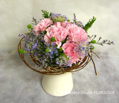 小さな花束 水色とピンク