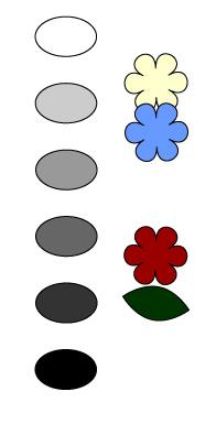 グレイスケール 色々な色