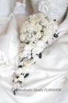 キャスケードブーケ プリザーブドフラワー 白バラ