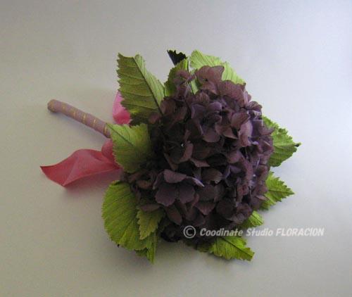 プリザーブドフラワー ミニブーケ アジサイ 紫