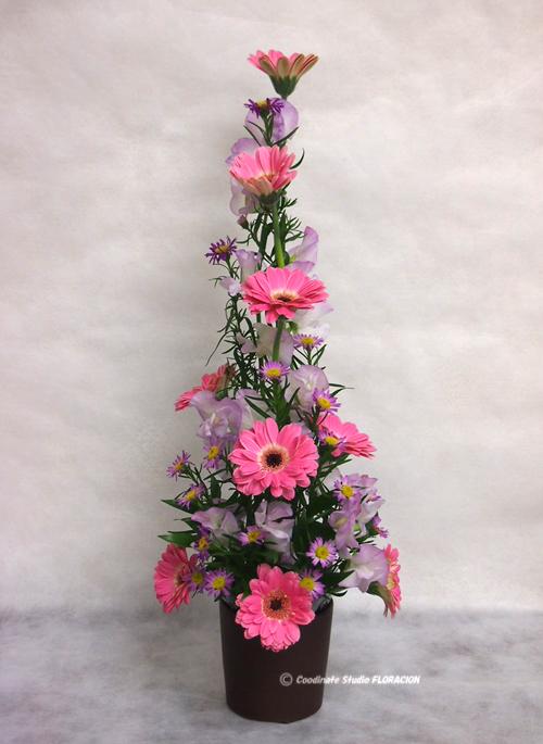 フレッシュフラワー 花器 茶色