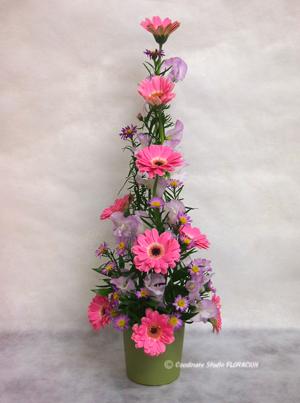 フレッシュフラワー アレンジメント 花器 グリーン