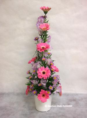 フレッシュフラワー アレンジメント 花器 白