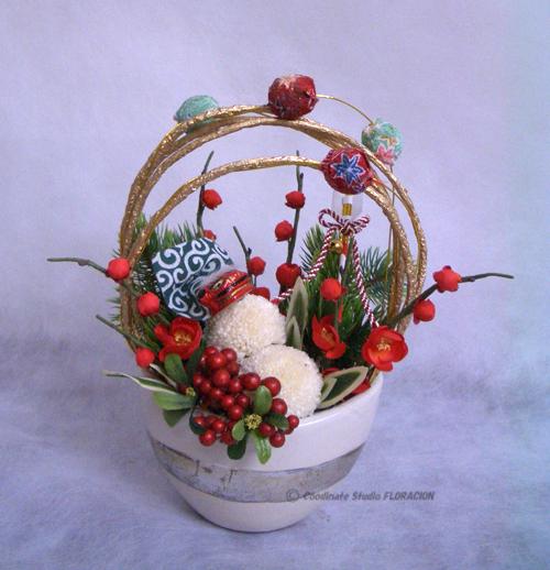 プリザーブドフラワー 造花 アレンジメント お正月