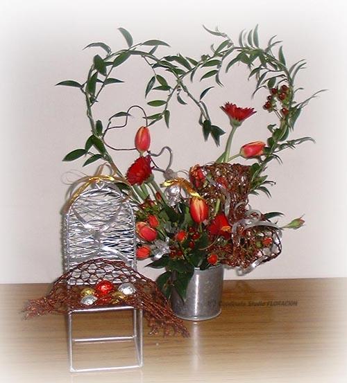 フレッシュフラワー 生花アレンジメント バレンタイン