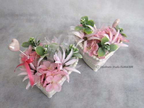 造花 シルクフラワー ハート バレンタインアレンジメント