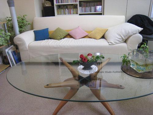 プリザーブドフラワー テーブルアレンジメント オフィス