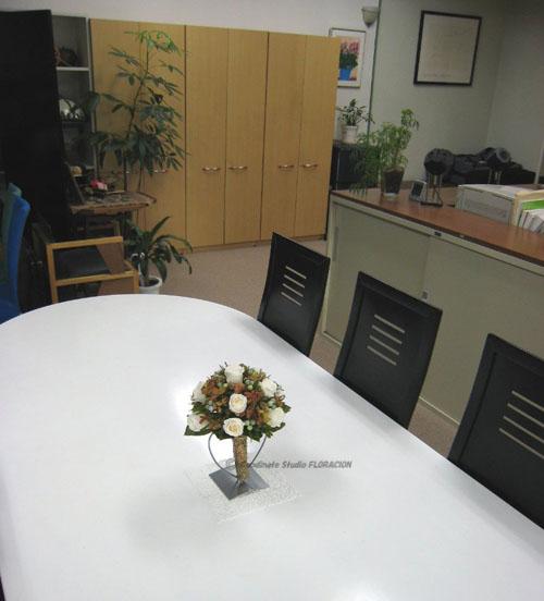 プリザーブドフラワー テーブルアレンジメント