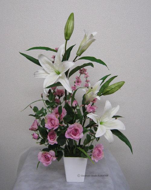 シルクフラワー 造花 アレンジメント ディスプレイ