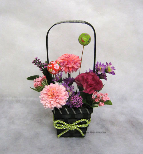 シルクフラワー 造花 アレンジメント 和風