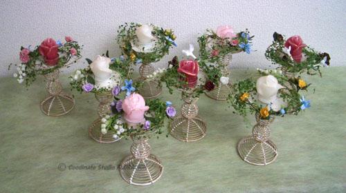 シルクフラワー 造花 キャンドルアレンジメント テーブル