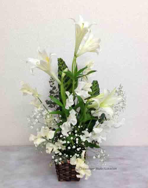フレッシュフラワー 生花 アレンジメント 白百合 イースター