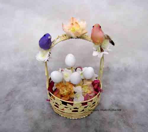シルクフラワー 造花 アレンジメント イースター