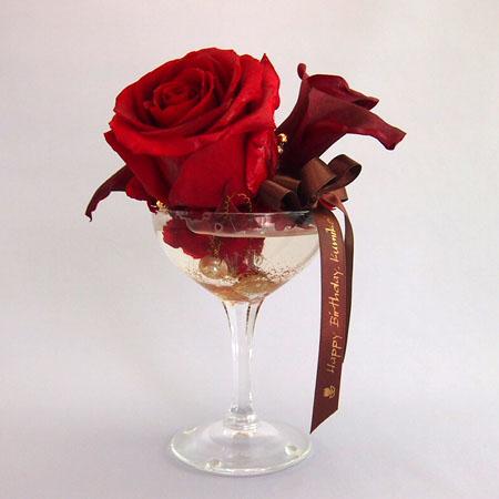 バースデーギフト 赤バラ アレンジメント プリザーブドフラワー
