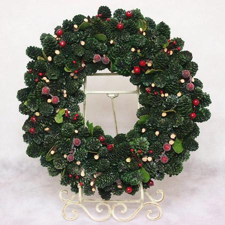 クリスマスリース(きらきらグリーン)